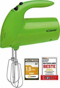 Bomann HM 350CBBatteur électrique spécial pâtisserie 5vitesses 250W vert