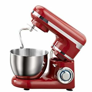 Cuisine Mini Batteur Sur Socle,Avec Batteur Crochet Fouet Dough Hook,Stand Mixer 6 Speed 1200W Food Mixer,4L with Stainless Steel Mixing Bowl,Pour Kitchen Pains Brioches, Pâtisserie