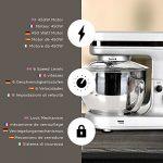 Duronic SM100SR Robot pâtissier de cuisine batteur/mélangeur/pétrisseur
