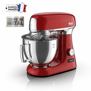 Faure FKM-104MS1 Robot Pâtissier Magic Baker Series – 1000W – Mouvement Planétaire – 8 vitesses – Bol Inox 4,8L – Coloris Rouge