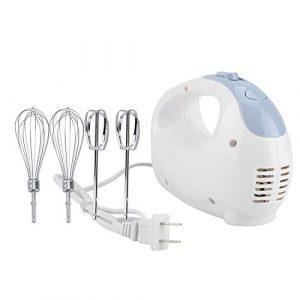 Fdit Mixeur électrique Portable pour Aliments, mixeur à 5 Vitesses, Double Fouet pour œufs mixeur, crème pâte, Cuisine, gâteau, pâtisserie