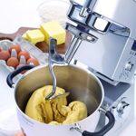 Kenwood Cooking Chef – Pétrisseuse planétaire Pétrisseur, mixeur, robot de cuisine et balance Con Frullatore, Food Processor e Bilancia argent