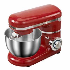 LQ 1200W en Acier Inoxydable Bol 4L 6 Vitesses Cuisine Alimentaire Batteur Crème Fouet Blender Gâteau De Pâte À Pain Mixer Maker Machine