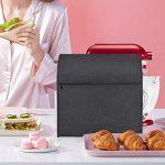 Luxja Housse pour Robot Pâtissier, Housse de Protection pour KitchenAid Robot Pâtissier et Accessoires (Convient aux 4,3 Litre et de 4,8 Litre Batteurs sur Socle), Noir