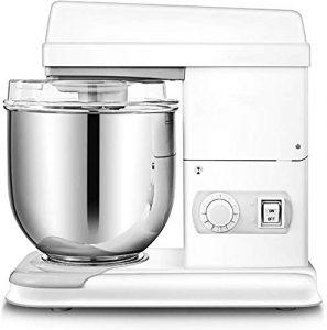 Mixeur plongeant sur pied en acier inoxydable avec tête inclinable 11 vitesses multifonction démarrage cuisine entièrement automatique petite machine de cuisine, fouet à œuf, pâte mélangeur Blanc