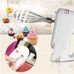 SHUUY Batteur Immersion Blender for la Cuisine, mélangeur électrique à Main, en Plastique Beaters, Blender, Pâte à Crochets, Fouets à Lait, Fouet