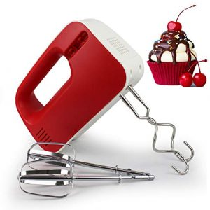 Sotech – Batteur à Main,Fouet electrique,Batteur mixeur,Batteur electrique cuisine,Matériel de qualité alimentaire,Rouge, 200W, Matériau: Plastique ABS, Puissance: 200 W,Faire du pain et des gâteaux