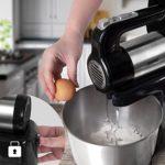 Duronic SM3 Batteur électrique sur socle de 300W avec bol de 4 litres – 2 Batteurs / 2 Crochets à pétrir / 1 Fouet – Idéal pour battre des œufs en neige, préparer de la crème, des génoises et gâteaux