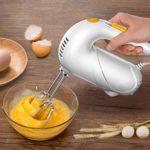 N/A Léger 5 Vitesses électrique Batteur, Cuisson Petite Tenue à la Main Fouet gâteau Mixer la crème Fouetter Cheveux