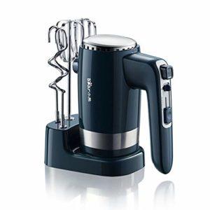 DUAN Batteur à Main électrique à 10 Vitesses légère Handheld Fouet (Puissance de crête 300 W) Cuisine pour Cuisson gâteau Mini Oeuf crème Alimentaire Batteur – 2X Beaters, 2X pâte Crochets