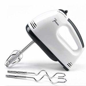 Fesjoy Batteur à Oeufs électrique à 7 Vitesses Mélangeur à Main Automatique Mélangeur Plastique Rotatif Fouet Push Fouet Mélangeur de crème fouettée Agitateur (220V) Batteur à Oeufs électrique