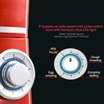 Heatile Mélangeur sur Socle 1200W, Mécanismes de Sécurité Contre Surchauffage, Robot Pâtissier à 6 Vitesses, avec Batteur, Crochet, Fouet Bol 4L