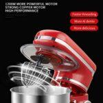 Heatile Robot Pâtissier Bol Auto-giratoire en Acier Inoxydable, 4L de Capacité, 6 Niveaux de Vitesse, Fonction Turbo, et 3 Accessoires, Moteur de 1200 W