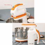 LH 300W Main et Batteur sur Socle, 5 Vitesses et Turbo Fonction Comprend 3L Bowl, 2X Beaters, 2X pâte Crochets Fouet, for la Cuisine Cuisson gâteau Mini Oeuf crème Alimentaire Batteur