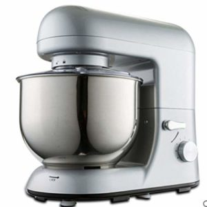 Robot Culinaire, Cache-PoussièRe Transparent, Bol En Acier Inoxydable 5 Litres, 1000 W En 6 Niveaux De Puissance, Crochet MéLangeur Et PéTrissage, Fouet, Protection Anti-éClaboussures(gray)