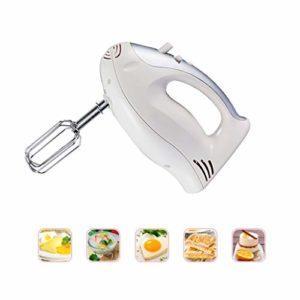 XFENG Heavy Duty Mini électrique Petit Batteur Fouet Fouet 5 Vitesses Cuisine Handheld Alimentaire de Cuisson for la Cuisine Cuisson gâteau Mini Oeuf crème Alimentaire Batteur (Couleur : Blanc)
