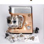 Batteur sur Socle, Mélangeur à gâteaux, 1000 W Power Six Gears Mixed Mixed 5-Liter Large Steel Bowl Metallic Bowl Metallic