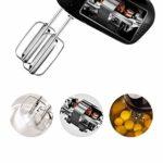 ECSWP Batteur à Oeufs – Batteur sur Socle électrique, Vitesses avec Fouet, Crochet à pâte, Accessoires de Batteur Plat