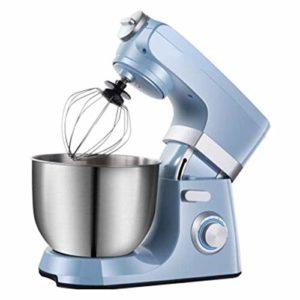 HEMFV Stand Mixer ménage, 1500W Mixer pâte avec l'acier Inoxydable 7L Bowl, Cuisine Food Mixer avec Le Crochet pétrisseur, Fouet, Batteur Plat, Bouclier Verser (Color : Blue)