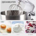 SWQG-Poêle Robot Pâtissier Multifonctions Robot de Cuisine Professionnel 6 Vitesses (avec Fouet À Fils, Batteur, Crochet) 800W 4L