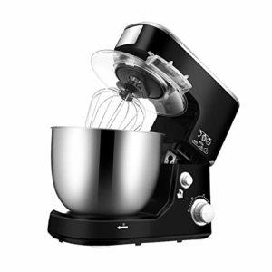 YYBF 5L Robot de Cuisine au Design rétro avec Fouet, Crochet pétrisseur et Batteur, 1000 W