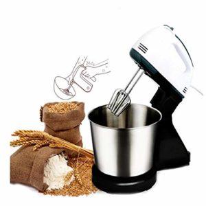 YYBF Robot Pâtissier avec Bol de 2L, 7 Vitesses Ajustables et Poignée .pour Tenir à Main sont Bien Agréable,pour Vos Différents Besoin de Cuisine, Inclut 2 Batteurs et 2 Crochets à Pâte
