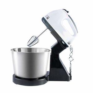 Abilieauty Batteur électrique pour pâtisseries pour mains pétrisseur œuf mélangeur pour gâteau mixeur bol batteur mélange 7 vitesses robot de cuisine, mixeur