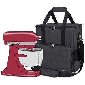 Luxja Sac de Rangement pour KitchenAid Robot pâtissier et Accessoires supplémentaires (Convient aux 5,6-7,5 Litre KitchenAid Robot pâtissier), Noir