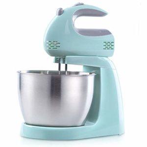 Robot Cuisine Multifonctions Batteur Patisseri 5 Vitesses Ajustables 3.0 L Bol Inclut 2 Batteurs et 2 Crochets à Pâte pour Cuisine Cuisson Gâteau Mini Oeuf Crème Batteur Alimentaire,Light Blue