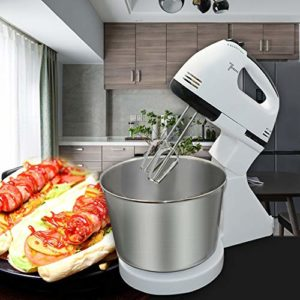 Robot De Cuisine,Mélangeur,Pétrin,7 Vitesses 250W Mixeur,Cuisine Batteur Électrique Avec Crochet Pétrisseur,2L Impastiera En Acier Inoxydable, Fouet & Batteur, Pour Wheaten, Salade, Gâteau
