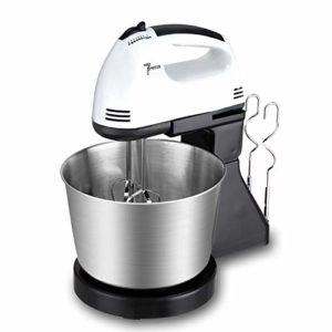 GYMS Robot pâtissier manuel professionnel, mixeur électrique portable à 7 vitesses, 2 batteurs, 2 crochets de pétrissage pour cuisine domestique noir