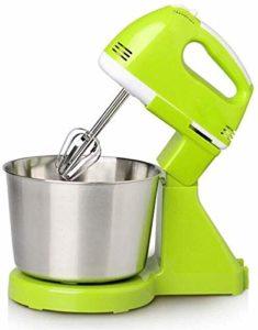 J-Robot Pâtissier Batteurs Sur Socle Électrique Mixeur, 7 vitesses électrique Mixer la crème mitigeur avec bol en acier inoxydable 2L à main Alimentation et gâteau Mélangeur électrique cuisine machine
