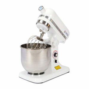 Robot De Cuisine Multifonction – Robot Patissier Avec L'acier Inoxydable 7L Bowl, Double Fouet, 9 Vitesses Pâte Maker, Pour La Cuisine De Cuisson De Gâteau De Crème Glacée Alimentaire Batteur