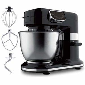 Robot Pâtissier Robot De Cuisine, Acier Inoxydable 4 L Jatte, 5 Vitesses Électrique Type De Cuisine Mélangeurs, Avec K-Batteur, Crochet Pétrisseur, Fouet 1200 Watt