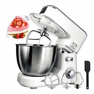 CMAO Robot Pâtissier,Mélangeur de Nouilles électrique Domestique Multifonctionnel de Machine de Chef Commercial 6 Vitesses / 4L Grande capacité / 800W