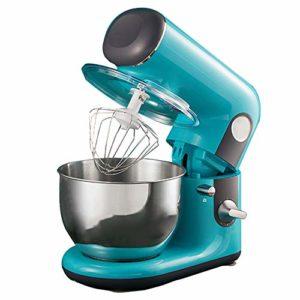 CMAO Robot Pâtissier,Mélangeur de pâte Multifonctionnel Domestique 1000W Forte Puissance/Bol de mélange 4L / 6 Vitesses/Bleu