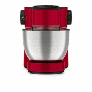 Moulinex QA512G10 Robot Pâtissier Masterchef Gourmet avec Blender Découpe-Légumes 8 Vitesses Pulse Pétrin Fouet Flex Batteur Électrique 1100W Cuisine Rouge