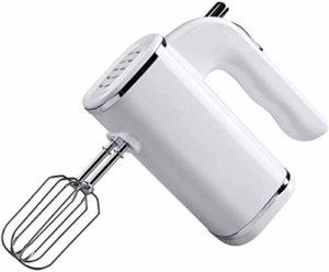 ZJHCC Mélangeur électrique 200 W, Fouet à Main 5 Vitesses, Batteur à Double bâton en Acier Inoxydable pour Cuisine à la Maison, Blanc