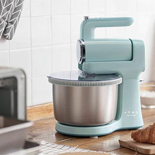 Batteur à oeufs électrique sur socle, mélangeur de nourriture à main avec mélangeurs de batteur à oeufs à farine automatique de bureau à 9 vitesses et 4l