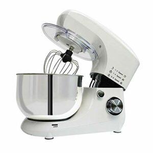 Mélangeur de Stand, mélangeur Alimentaire de 7l Bol 1200W, mélangeur électrique de Cuisine multifonctionnelle avec Crochet de la pâte, Fouet, Batteur (Color : White, Size : 35x15x31cm)