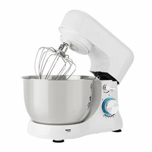 SHBV Électrique Cuisine Robot Pâtissier,Tilt-tête Robot Menager Tilt-tête 10 Réglage De La Vitesse Et du Pouls avec Crochets Pétrisseurs Crochet Batteur 1000w