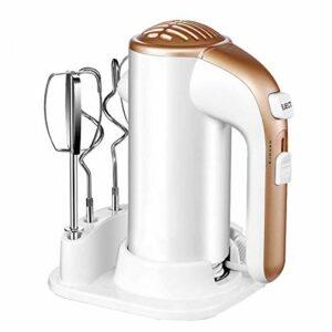 DHHZRKJ Batteur à Main électrique, Batteur à Main à 5 Vitesses avec Base de Rangement, Batteur de Cuisine pour mélanger Facilement pâte, crème, gâteau