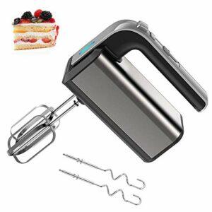 DHHZRKJ Batteur à Main électrique, mélangeur de Cuisine à 5 Vitesses 250 W avec Fouet et Crochet pétrisseur, mélangeur à gâteau léger