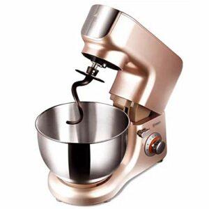 GAOLIGUO Robot Pâtissier 5.5L, 1000W 6 Vitesses Robot de Cuisine Multifonction Robot Culinaire avec Fouet, Crochet à pâte, Batteur Robot Pétrin,Rose Gold