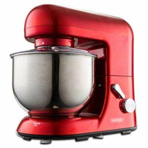 GAOLIGUO Robot Pâtissier 5L, 1000W 6 Vitesses Robot de Cuisine Multifonction Robot Culinaire avec Fouet, Crochet à pâte, Batteur Robot Pétrin,Red