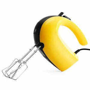 Mélangeur électrique, mélangeur de cuisine portable à bouton d'éjection facile à 5 vitesses haute puissance 300w , avec accessoires en métal 2 batteurs filaires et 2 crochets pétrisseurs sur socle