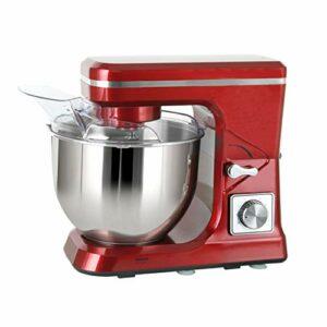 Robot Pâtissier Cuisine Food Dough Dough Stand Stand Mitigeur Machine 6 Vitesse 5L Acier inoxydable Bol à mélanger Base d'oeuf Crochet de pâte à crochet (Color : Red)