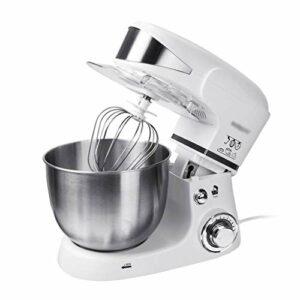 Robot Pâtissier Dough Blender Stand Mitigeur Machine Machine de cuisine Cuisine électrique Mélangeur 5L En acier inoxydable Bol de mélange avec crochet de la pâte whisk batteur (Color : White)