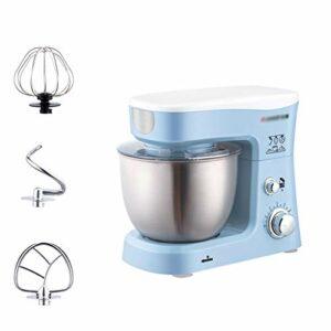 Robot Pâtissier Stand Mixer Machine Food Dough Processeur Blender 3.5L Bol en acier inoxydable 6 Vitesse avec batteur d'oeuf Crochet de la pâte à épouse (Color : Blue)