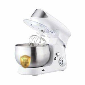 Batteur sur socle, mélangeur de pâte Machine électrique de chef de pain de gâteau avec bol en acier inoxydable de 3,5 L, batteur, crochet, fouet (Color : White)